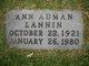 Profile photo:  Annie Blair <I>Auman</I> Lannin
