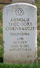 "Profile photo:   Arnold Theodore "" "" <I> </I> Odenbaugh,"
