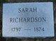 "Sarah ""Sally"" <I>Allen</I> Richardson"