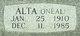 Profile photo:  Alta Lillian <I>O'Neal</I> Britain
