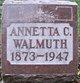 "Annetta Caroline ""Annie"" <I>Sponholtz</I> Walmuth"