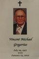 Vincent Michael Gregorius, Sr