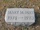 Mary <I>McMillan</I> Burt