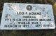 Leo F Adams