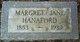 Margaret Jane <I>Merriam</I> Hanaford