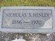 "Nicholas S. ""Nick"" Henley"