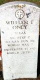 William F Oney