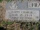 """Charley """"Hap or Happy"""" Frakes"""