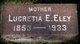 Lucretia Ellen <I>Tozier</I> Eley
