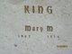 Mary M <I>Davis</I> King