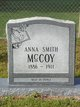 Profile photo:  Anna <I>Smith</I> McCoy