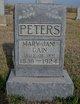 Mary Jane <I>Cain</I> Peters