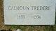"Haynes Dillard ""Calhoun"" Fredere"