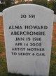 Profile photo:  Alma Ann <I>Howard</I> Abercrombie