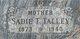 Sadie Teressa <I>Cooper</I> Talley