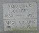 Profile photo:  Alice <I>Collins</I> Boulger