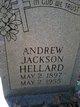 "Profile photo:  Andrew Jackson ""Andy"" Hellard"