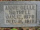 Profile photo:  Annie Belle <I>Cate</I> Hutsell
