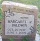 Profile photo:  Margaret Ruth <I>Anglemyer</I> Baldwin