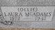 "Profile photo:  Laura Etta ""Ollie"" <I>McAdams</I> Barnes"