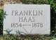 Profile photo:  Franklin Haas