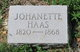 Profile photo:  Johanette <I>Kraeuter</I> Haas