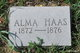 Profile photo:  Alma Haas