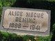 Profile photo:  Alice <I>McCue</I> Deming