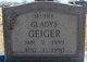 Sarah Gladys <I>Yonally</I> Geiger