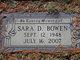 Profile photo:  Sara D. Bowen