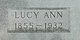 Profile photo:  Lucy Ann <I>Lyons</I> Bravinder