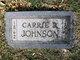Carrie <I>Ream</I> Johnson