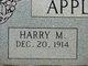 Profile photo:  Harry M Appleman