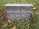 Profile photo:  Sarah E. <I>Nicholas</I> Adams