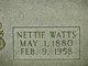 """Annetta V """"Nettie"""" <I>Watts</I> Babbitt"""