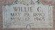 "Winnifred Caroline ""Willie"" <I>Hill</I> Lee"