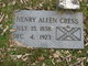 Profile photo: Pvt Henry Allen Cress
