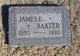 Profile photo:  James E. Baxter
