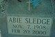 Profile photo:  Abie Sledge
