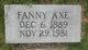 Profile photo:  Fanny Agnes <I>Baker</I> Axe