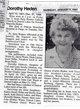 Dorothy Marcella <I>Johnson</I> Heden