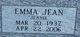 "Profile photo:  Emma Jean ""Jeannie"" Amos"