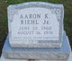 Profile photo:  Aaron K Riehl, Jr