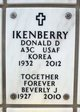 "Donald Dean ""Ike"" Ikenberry"