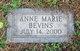 Profile photo:  Anne Marie Bevins