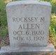 Rocksey M Allen