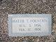 Hattie Alberta <I>Thomas</I> Fountain