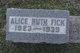 Alice Ruth Fick