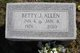 Betty J Allen