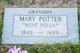 """Profile photo:  Mary A. """"Polly"""" <I>Turney</I> Potter"""